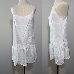 Juicy Couture White Linen Dress L